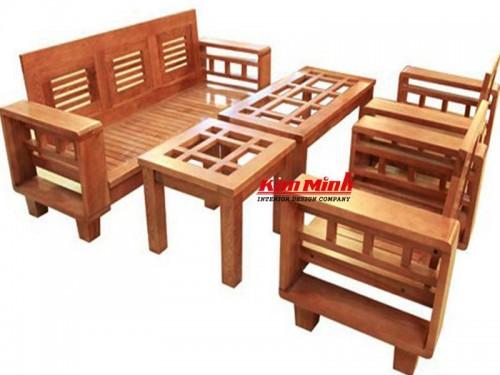 Bàn ghế gỗ phòng khách nhỏ đẹp giá rẻ tphcm - Salon Gỗ Chính Hãng