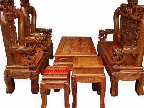 Giá bàn ghế gỗ phòng khách - Mẫu Bàn Ghế Salon Gỗ Đẹp
