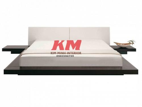Giường ngủ kiểu Nhật hiện đại gỗ Xoan Đào GNKN009