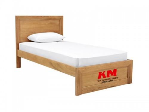 Giường Đơn Đẹp Giá Rẻ Gỗ Sồi Tự Nhiên GD001