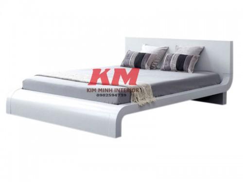 Giường Đuôi Cong Xoan Đào Phong Cách Hiện Đại GNXD008