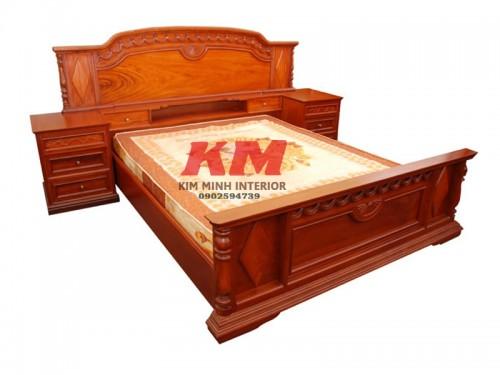Giường Ngủ Cao Cấp Cực Đẹp Gỗ Gõ Đỏ GNGD001