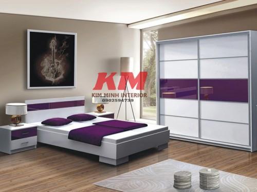 Giường Ngủ Cao Cấp Kiểu Nhật  Acrylic GNKN025
