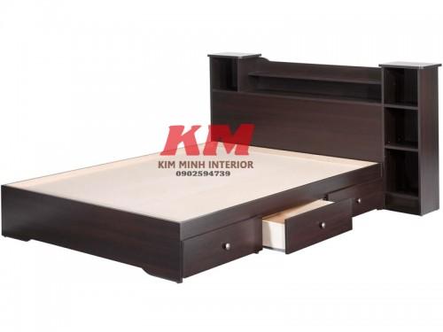 Giường Ngủ Đẹp Có Hộc Tủ Và Tủ Đầu Giường GNCN007