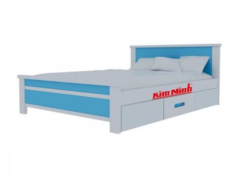 Giường Ngủ Đơn Có Hộc Tủ Cho Bé GD007