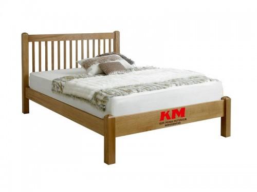 Giường Ngủ Đơn Gỗ Sồi Đẹp Giá Rẻ GD005