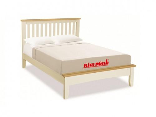 Giường Ngủ Đơn Gỗ Tự Nhiên Sồi Giá Rẻ GD015