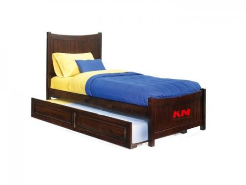 Giường ngủ đơn có ngăn kéo gỗ xoan đào GD004