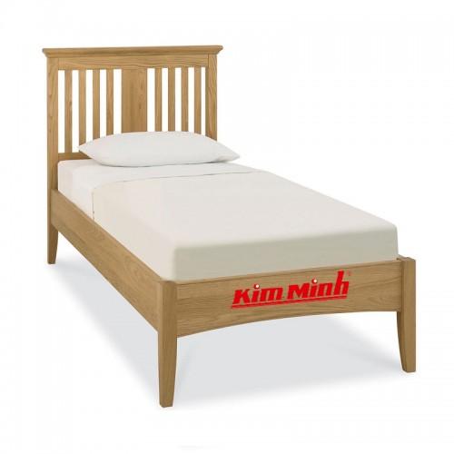 Giường Ngủ Đơn Thiết Kế Cực Đơn Giản Đẹp Mắt Từ Gỗ Sồi GD013