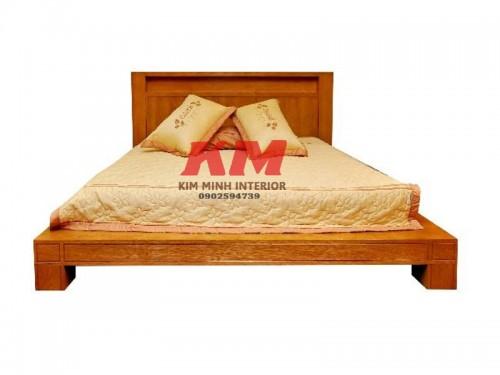 Giường Ngủ Gỗ Gõ Đỏ Tự Nhiên 1M6 GNGD003