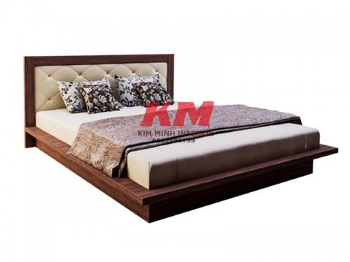 Giường Ngủ Gỗ MDF Bọc Nệm GNCN088