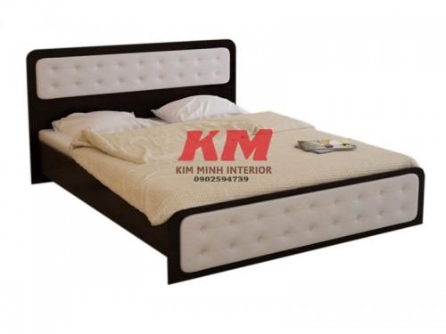 Giường Ngủ Gỗ MDF Bọc Nệm GNCN092