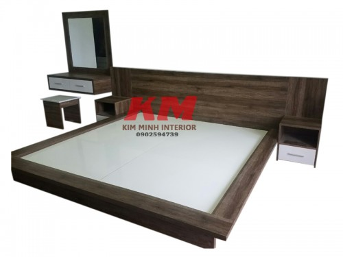 Giường Ngủ Gỗ MDF Kiểu Nhật GNCN094