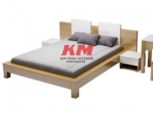 Giường Ngủ Gỗ MDF Kiểu Nhật GNCN082