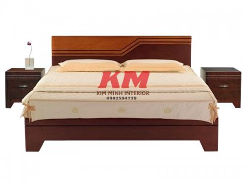 Giường Ngủ Gỗ MDF Màu Xoan Đào GNCN023