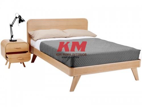 Giường Ngủ Gỗ Sồi Hiện Đại GNS086