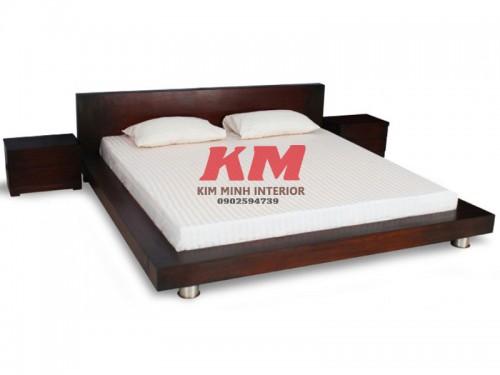 Giường Ngủ Gỗ Sồi Kiểu Nhật GNS083