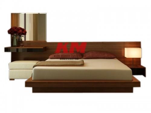 Giường Ngủ Gỗ Sồi Kiểu Nhật GNS095
