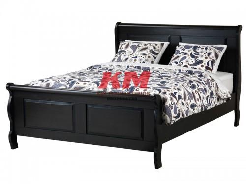 Giường Ngủ Gỗ Sồi Màu Đen Sang Trọng GNS089