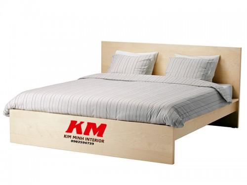 Giường Ngủ Gỗ Sồi Tự Nhiên Đẹp Đơn Giản GNS035