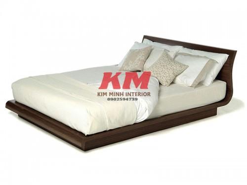 Giường Ngủ Gỗ Sồi Uốn Lượn Độc Đáo GNS069