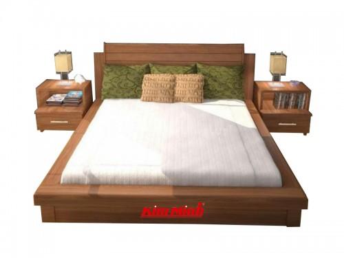 Giường Ngủ Gỗ Xoan Đào Kiểu Nhật Bản GNKN043