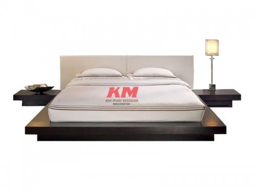 Giường Ngủ Hiện Đại Kiểu Nhật Đen Sang Trọng GNHD008