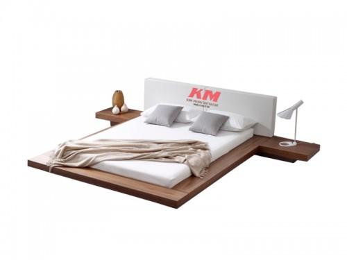 Giường Ngủ Hiện Đại Kiểu Nhật Vân Xoan Đào Cao Cấp GNHD007