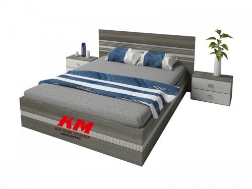 Giường Ngủ Hiện Đại Màu Nâu Cẩm Gỗ MDF - MFC GNHD019