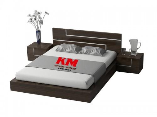 Giường Ngủ Hiện Đại Thiết Kế Đẹp Màu Đen Sang Trọng GNHD018