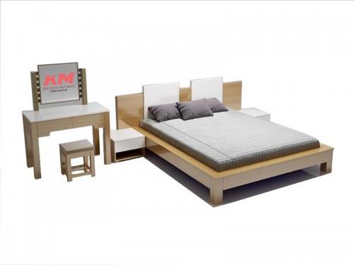 Giường Ngủ Khách Sạn Đẹp Giá Rẻ Gỗ Công Nghiệp GNKS010