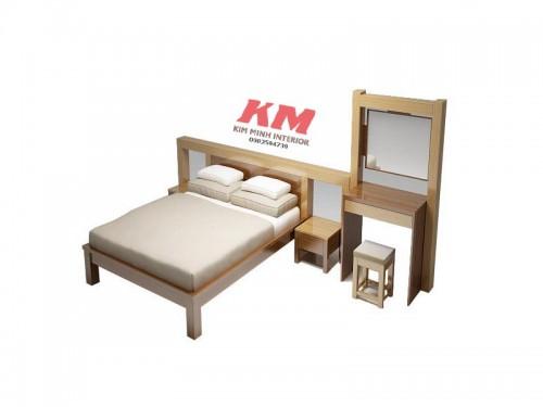 Giường Ngủ Khách Sạn Phong Cách Hiện Đại GNKS011