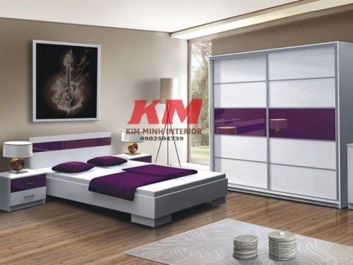 Giường Ngủ Kiểu Nhật Gỗ Acrylic GNKN002