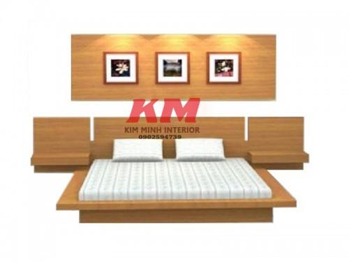Giường ngủ kiểu Nhật gỗ Căm Xe GNKN012