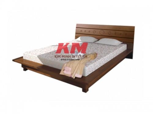 Giường Ngủ Kiểu Nhật Gỗ Xoan Đào GNKN003