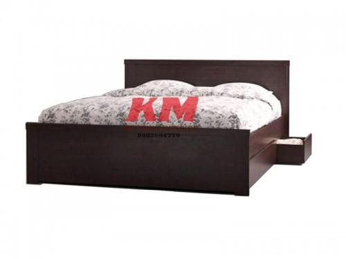 Giường Ngủ Hộp Kiểu Nhật Màu Đen Có Ngăn Kéo