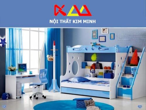 Giường ngủ trẻ em 2 tầng cao cấp GNTE004