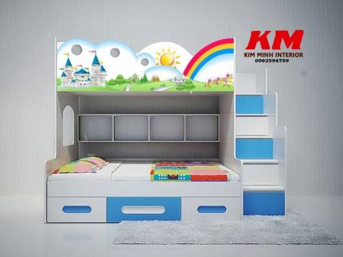 Giường ngủ trẻ em 2 tầng GNTE046