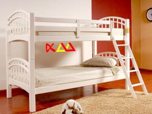 Giường Ngủ Trẻ Em 2 Tầng Gỗ Xoan Đào GNT003