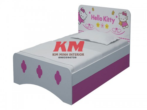 Giường Ngủ Trẻ Em Gấu Pooh In Hello Kitty GNTE073