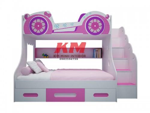 Giường Tầng Trẻ Em Funny Car GTTE089