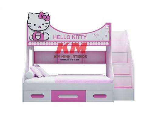 Giường Tầng Trẻ Em Hello Kitty GTTE090