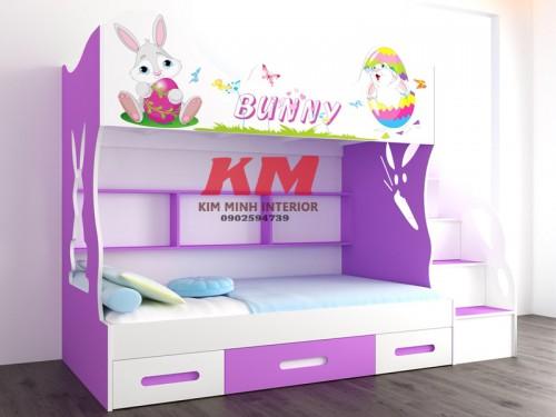 Giường Tầng Trẻ Em Thỏ Bunny GTTE094