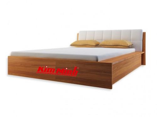 Mẫu Giường Đẹp Gỗ MDF Giả Vân Sồi GND018