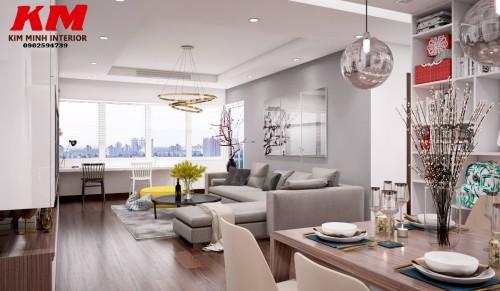 Thiết kế chung cư phòng khách TKTCCCK002