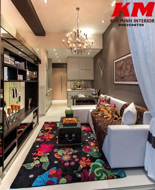 Thiết kế chung cư phòng khách TKTCCCK024