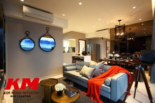 Thiết kế chung cư phòng khách TKTCCCK025