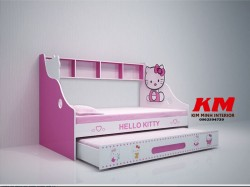 Giường ngủ trẻ em 2 tầng Hello Kitty GTE048