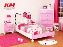 Giường ngủ trẻ em Hello Kitty GNTE009