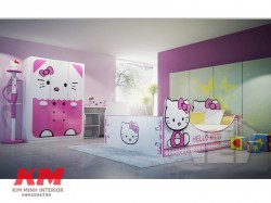 Giường ngủ trẻ em Hello Kitty GNTE024
